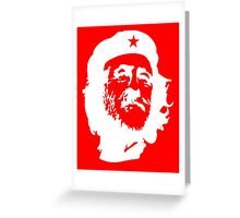 CORBYN, Comrade Corbyn, Leader, Labour Party, White on RED Greeting Card