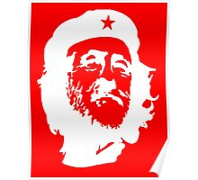 CORBYN, Comrade Corbyn, Leader, Labour Party, Politics, White on RED Poster