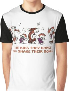 calvin and hobbes Dance Graphic T-Shirt