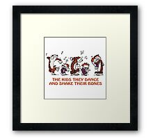 calvin and hobbes Dance Framed Print