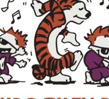 calvin and hobbes Dance Sticker