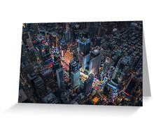 Times Square Nightlife Greeting Card