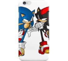 sonic and shadow iPhone Case/Skin