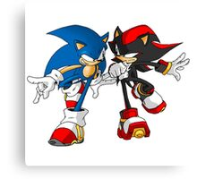 sonic and shadow Canvas Print