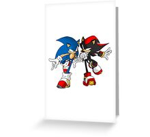 sonic and shadow Greeting Card
