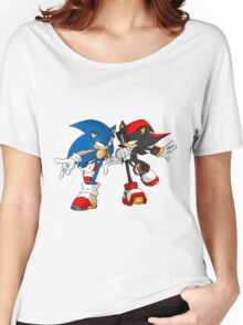 sonic and shadow Women's Relaxed Fit T-Shirt
