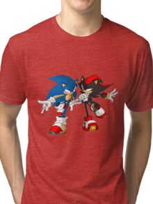 sonic and shadow Tri-blend T-Shirt