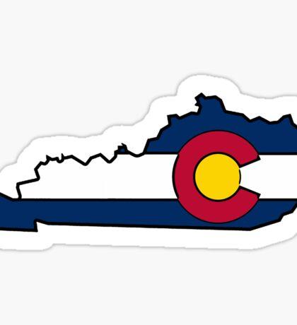 Kentucky outline Colorado flag Sticker