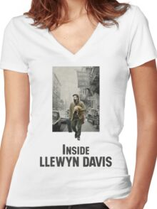 Inside Llewyn Davis Women's Fitted V-Neck T-Shirt