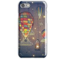 Baloon Sky Stars Fishing iPhone Case/Skin