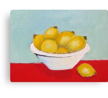 Lemons Still Life Canvas Print