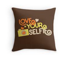 Love your selfie Throw Pillow