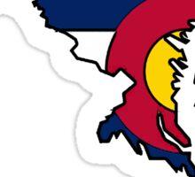 Maryland outline Colorado flag Sticker