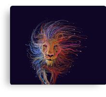 Lion cap Canvas Print