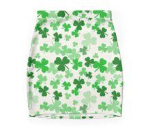 St Patrick Clovers lucky Chance Shamrock Trefle Pencil Skirt  Mini Skirt