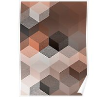 CUBE 2 BROWN Poster