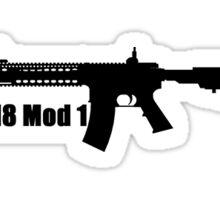 Gun logo Sticker