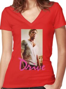 Drive Women's Fitted V-Neck T-Shirt