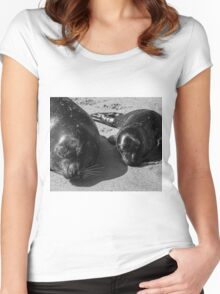 ♥Mum and Pup♥ Women's Fitted Scoop T-Shirt