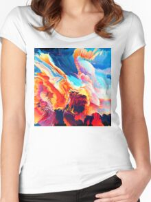 Abstract 09 Women's Fitted Scoop T-Shirt