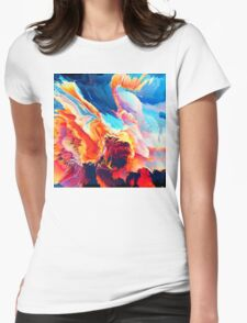 Abstract 09 Womens Fitted T-Shirt