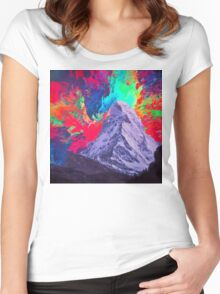 Abstract 30 Women's Fitted Scoop T-Shirt