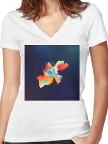 Abstract 21 Women's Fitted V-Neck T-Shirt
