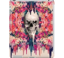 Seeing color, melting floral skull iPad Case/Skin