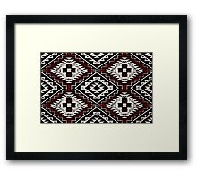 Navajo Vintage Red Crazy Quilt Framed Print
