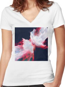 Abstract 14 Women's Fitted V-Neck T-Shirt
