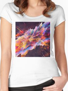 Abstract 10 Women's Fitted Scoop T-Shirt