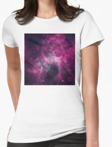 Galaxy universe Womens Fitted T-Shirt