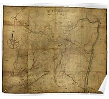 American Revolutionary War Era Maps 1750-1786 259 A Portion of New York from the Hudson River west to the Unadilla Branch of the Susquehanna River from the Poster