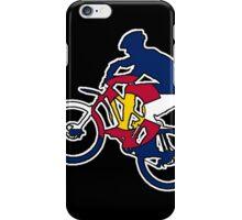 Colorado flag mountain biker iPhone Case/Skin