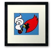 Smoking Cardinal Framed Print