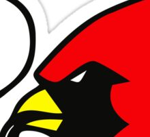 Smoking Cardinal Sticker