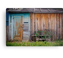 Green Bike Metal Print
