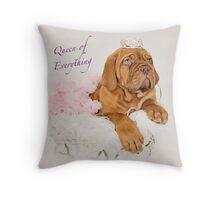 Dogue De Bordeaux Princess Puppy Throw Pillow