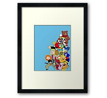 90s Cartoon Charecters Framed Print