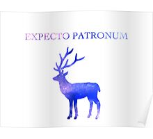 Expecto Patronum Galaxy Design Poster