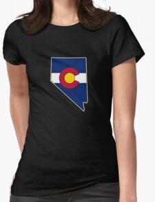 Nevada outline Colorado flag T-Shirt