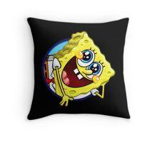 hello spongebob Throw Pillow