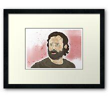 Rick Grimey Grimes The Walking Dead  Framed Print