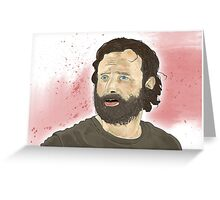 Rick Grimey Grimes The Walking Dead  Greeting Card