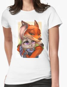 Zootopia - Nick x Judy Womens Fitted T-Shirt