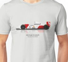 Michael Andretti - McLaren Ford MP4/8 Unisex T-Shirt