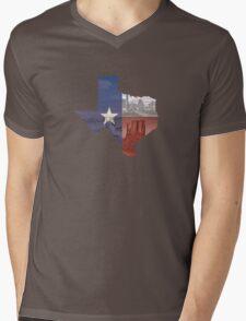 Texas Flag Mens V-Neck T-Shirt