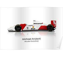 Michael Andretti - McLaren Ford MP4/8 Poster