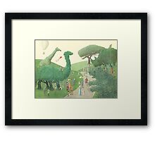 The Night Gardener - Summer Park  Framed Print