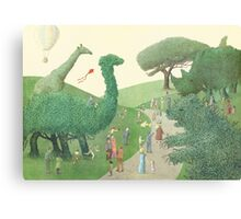 The Night Gardener - Summer Park  Canvas Print